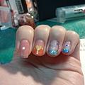 在京站的e-nail專櫃小姐幫我畫的