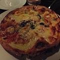 鮮蝦鮭魚披薩~