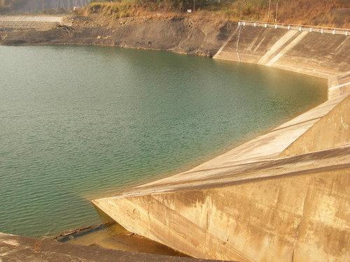 南化水庫大壩下蓄水池