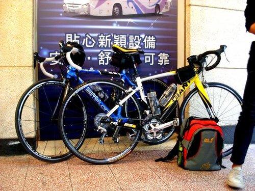 我和均銘的車於台南國光客運總站
