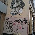貝多芬家的牆被塗鴉惹