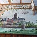 餐廳玄關的壁畫