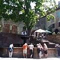 城堡內的小噴泉