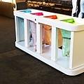 垃圾分類以顏色區分,包括垃圾袋也是四種顏色
