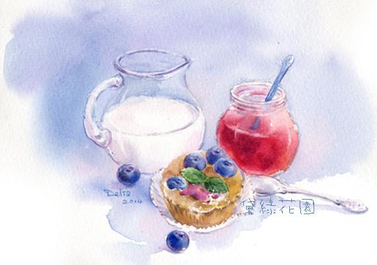 早餐紅藍白