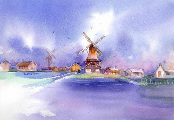 荷蘭風車村zaanse schans2014deliagarden