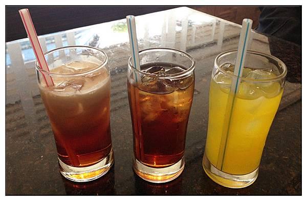 冰奶茶+冰紅茶+柳橙汁