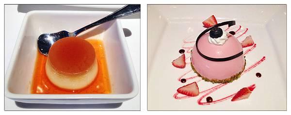 焦糖布丁+草莓開心果塔