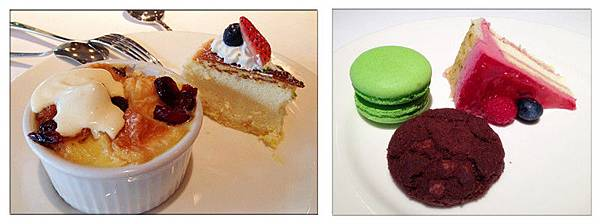 牛奶布丁麵包+起司蛋糕+馬卡龍+巧克力手工餅乾+蔓越莓香草蛋糕