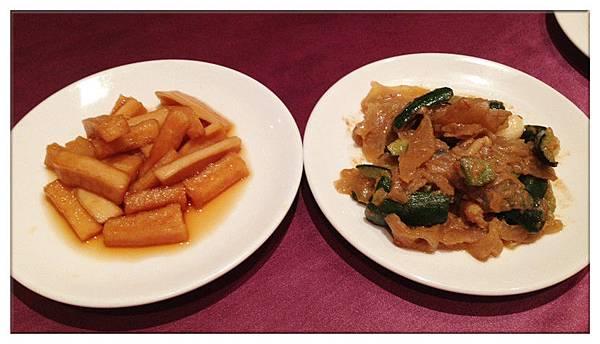 醃蘿蔔+麻將黃瓜拉皮