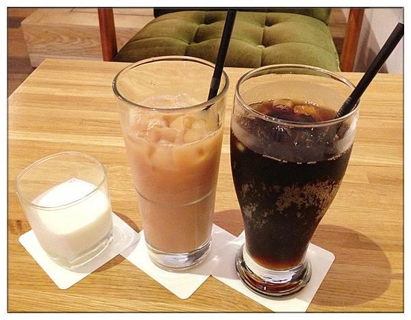 牛奶、奶茶、可樂