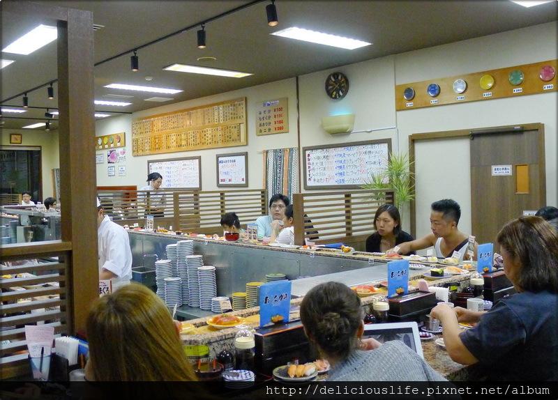 回轉壽司用餐區