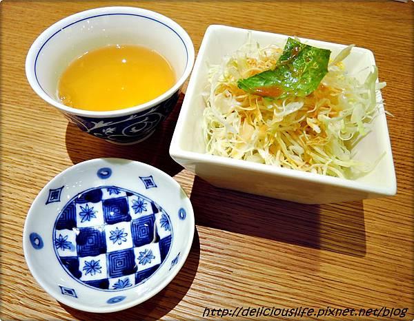 沙拉&牛蒡茶