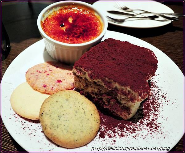 焦糖布丁,手工餅乾,提拉米蘇