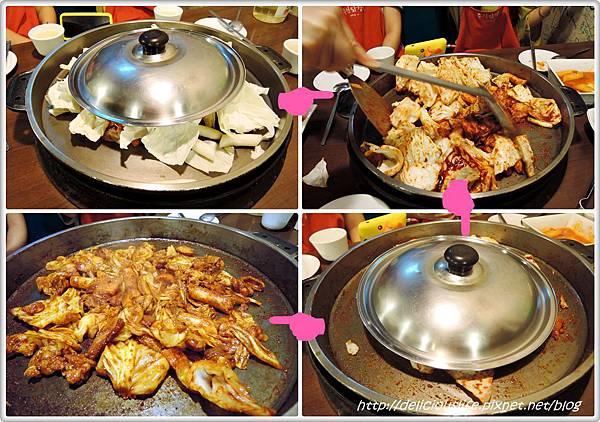 辣炒雞拌炒過程