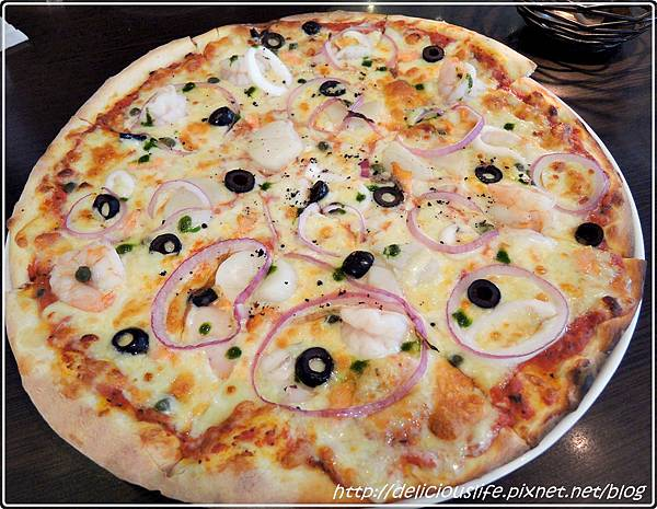 綜合海鮮披薩1