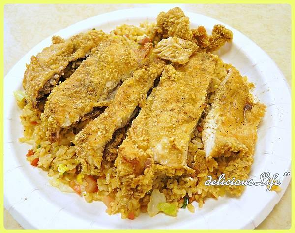 醬油炒飯+雞排90