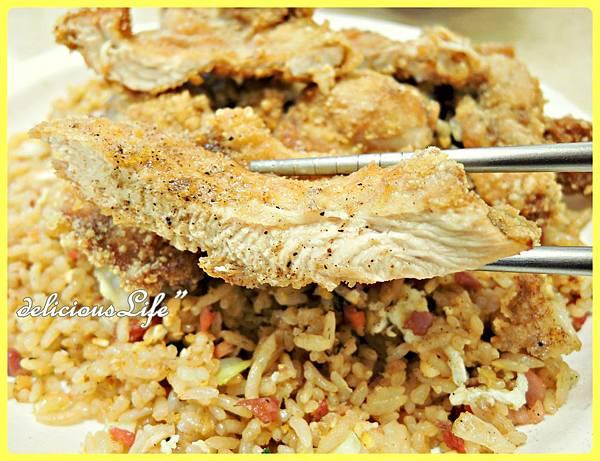 醬油炒飯+雞排3