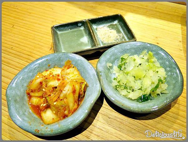 檸檬汁&胡椒鹽&泡菜&鹽蔥