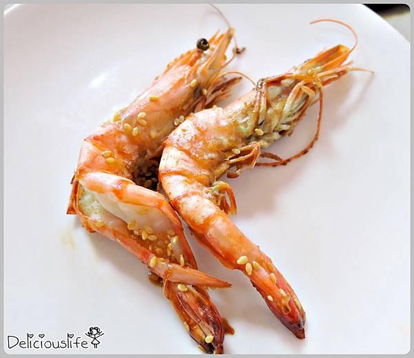 B套餐鐵板草蝦2