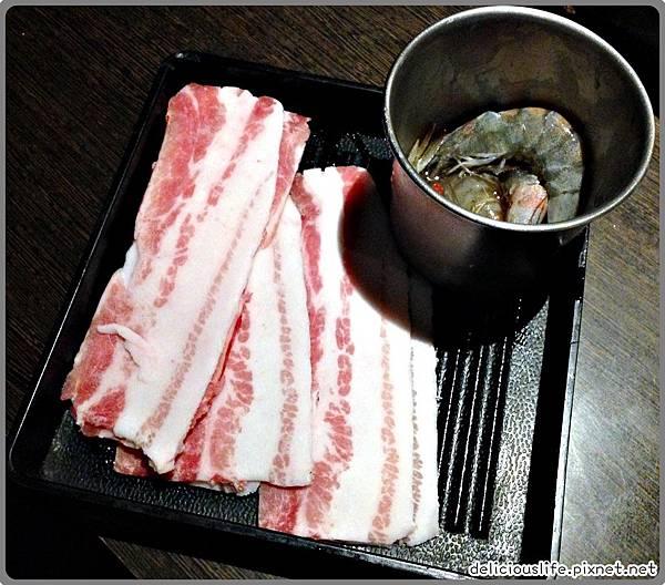 豬五花,燒酒蝦