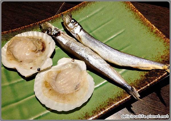 扇貝,柳葉魚
