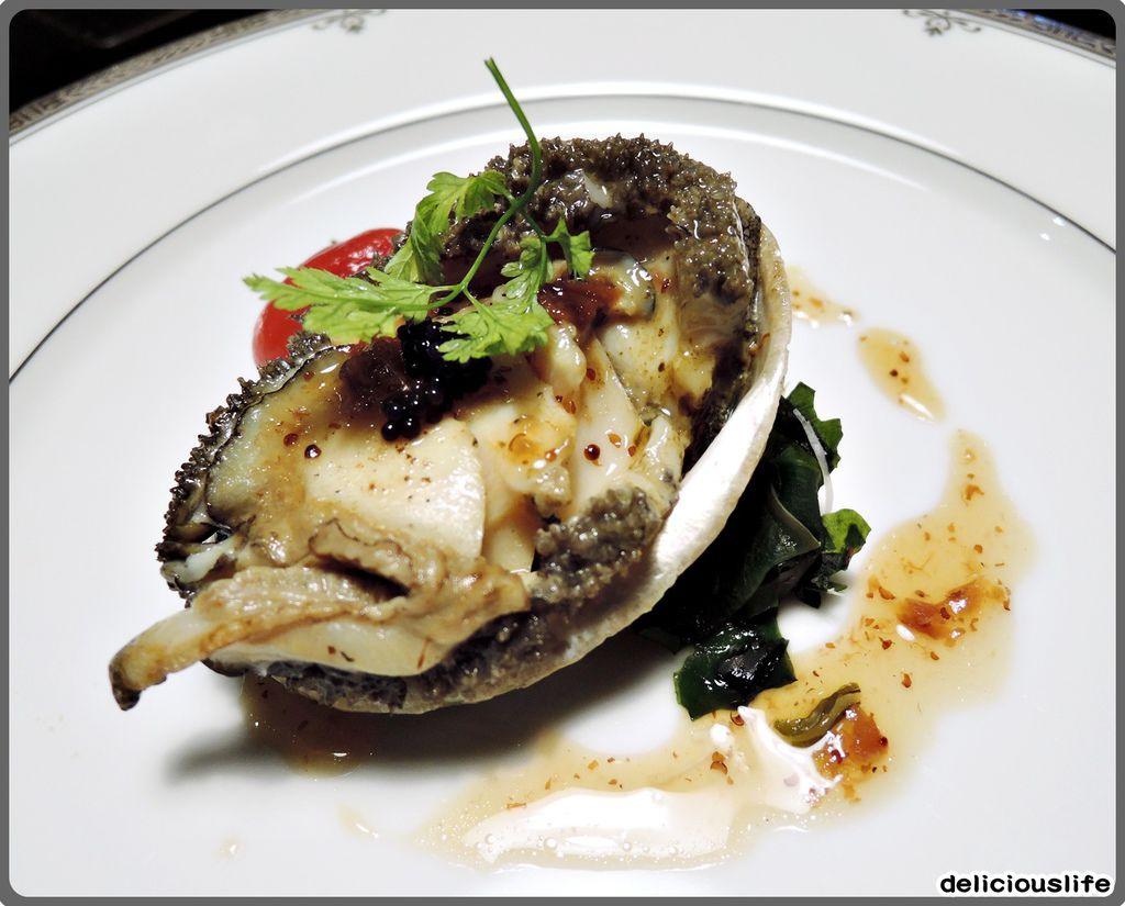 鐵板春曉套餐-活南非六頭鮑魚-2