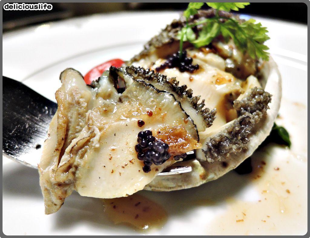 鐵板春曉套餐-活南非六頭鮑魚-3