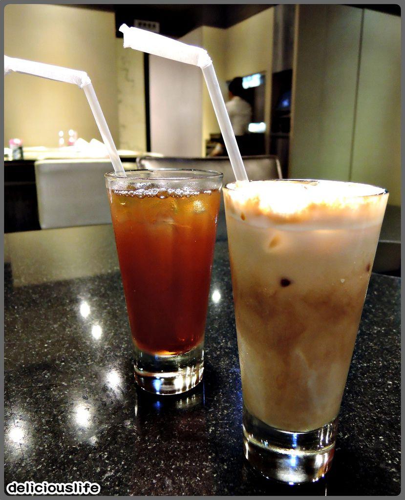 套餐飲品-冰紅茶&冰拿鐵