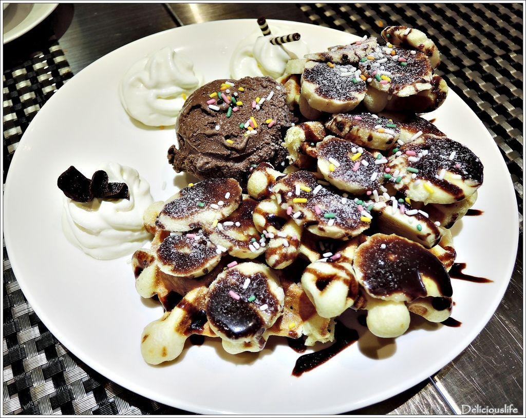 香蕉朱古力鬆餅160+比利時巧克力冰淇淋60-1