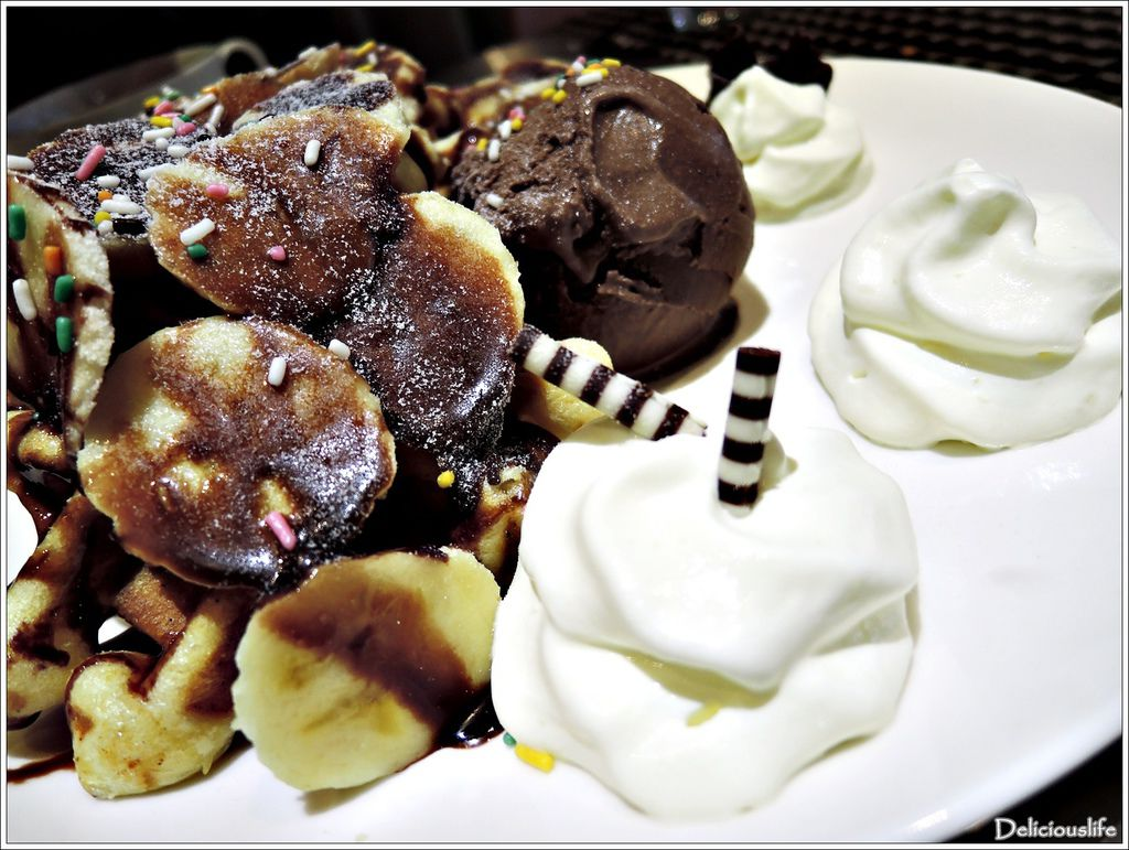 香蕉朱古力鬆餅160+比利時巧克力冰淇淋60-3
