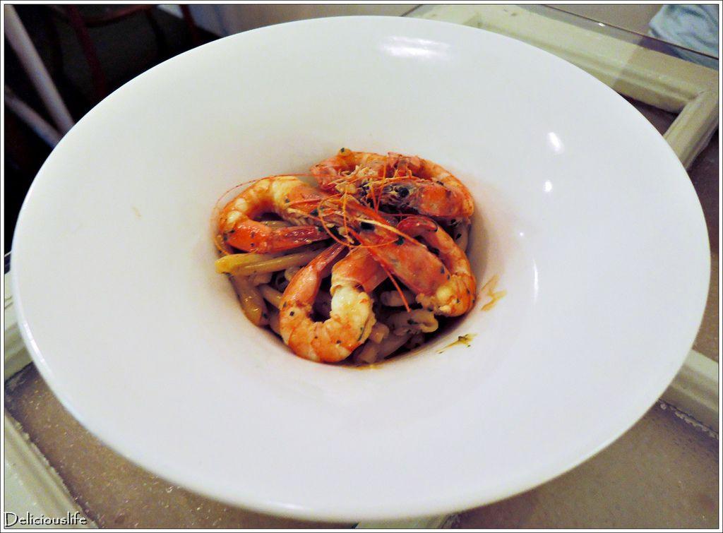 青醬鮮蝦花捲麵250-1