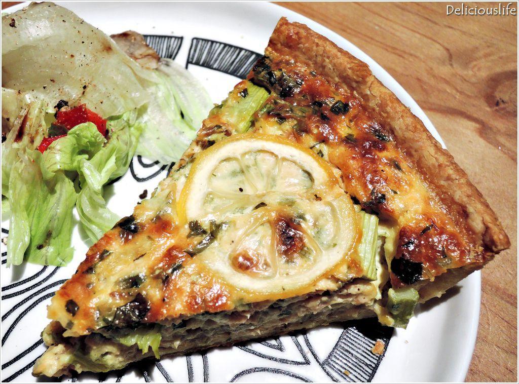 鮭魚蘆筍茴香鹹派150-2