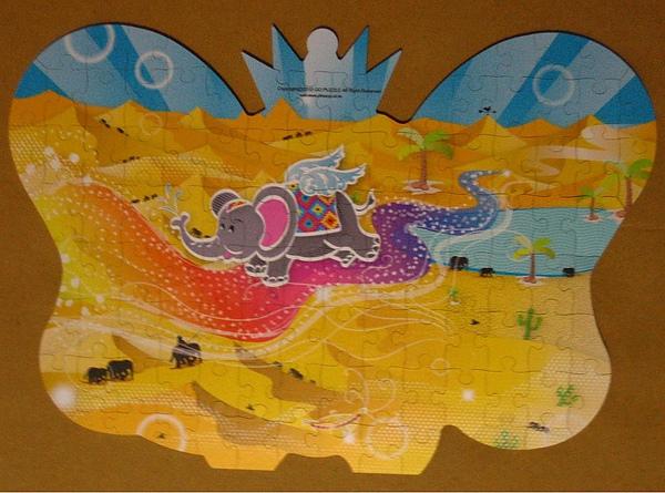 沙漠中的飛象