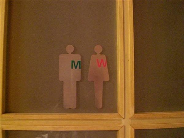 咖啡館的WC小牌,好口愛唷。