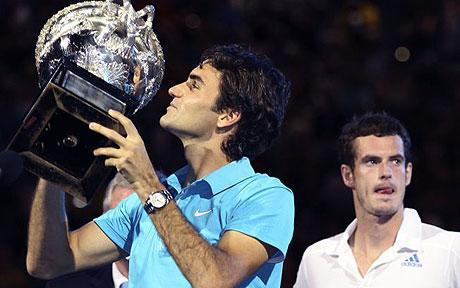 Roger Federer拿下2010澳洲網球公開賽冠軍