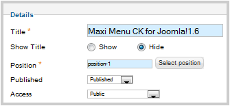 joomla下拉式選單設定教學