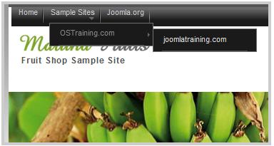 Joomla 下拉式選單設定教學步驟
