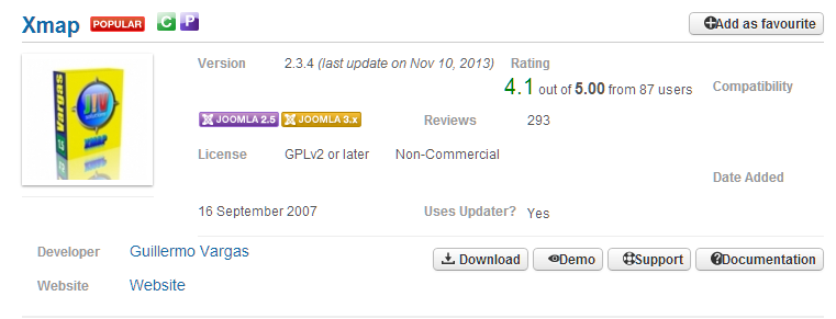 joomla sitemap 元件套件下載