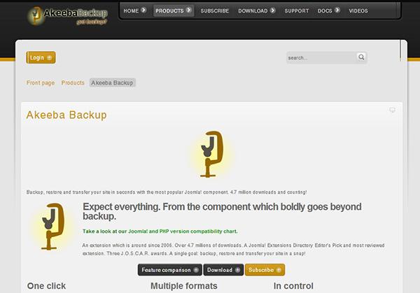 joomla網站備份工具Akeeba backup