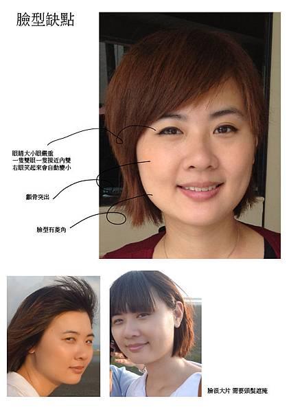 1.造型-臉型缺點