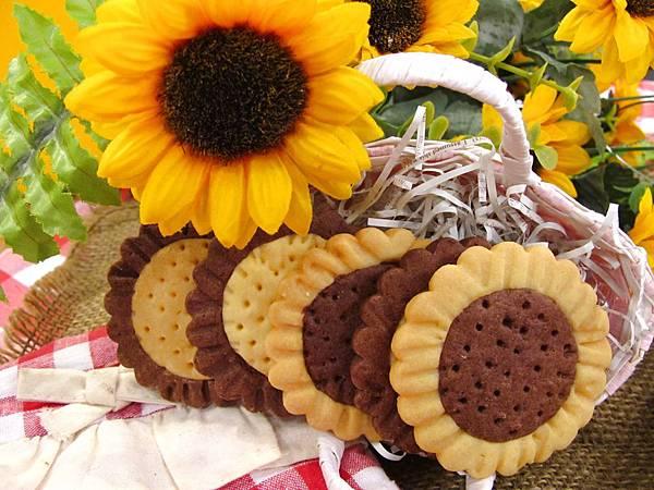 向日葵雙色餅乾