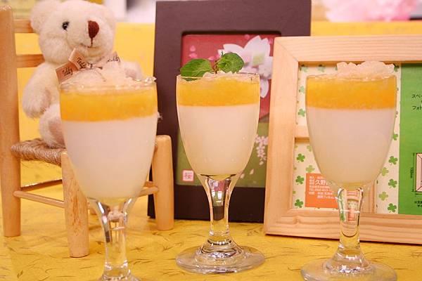 芒果杏仁奶凍