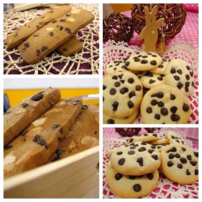 巧克力豆餅乾+火山豆咖啡餅