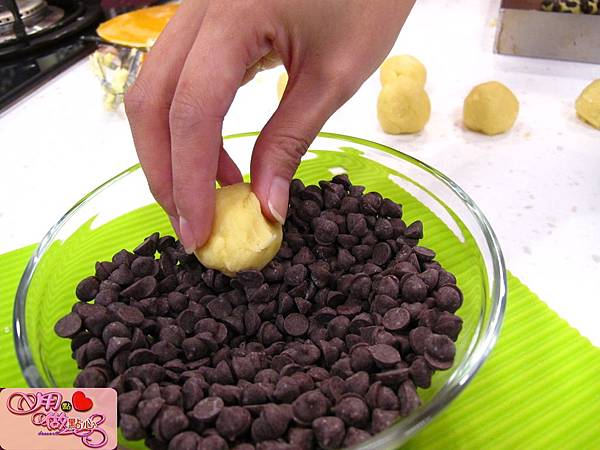 沾適量巧克力豆