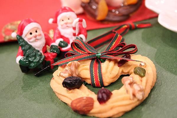 聖誕花圈餅乾