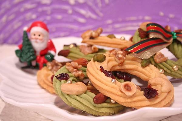 耶誕花圈餅乾