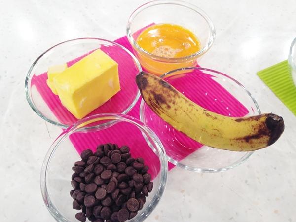 香蕉巧克力蛋糕 材料