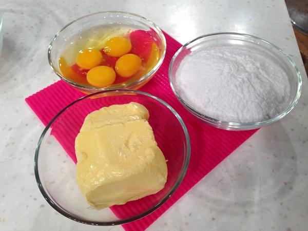 奶油棋格雙色蛋糕 材料
