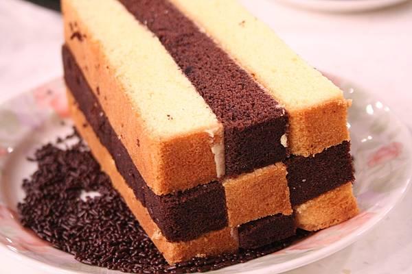 奶油棋格雙色蛋糕 做法